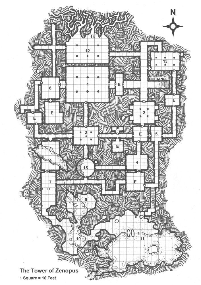 An Alternative Map for the Tower of Zenopus